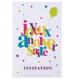 Carte invitation joyeux anniversaire