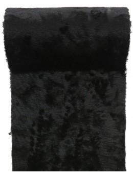 Chemin de table fourrure noir