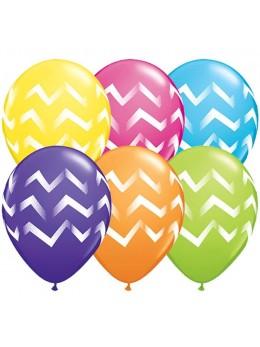 10 Ballons motif chevrons