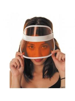 Casquette visière poker orange