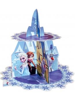 présentoir gateau reine des neiges