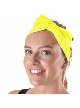 Bandeau avec noeud jaune fluo