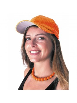 Casquette orange fluo