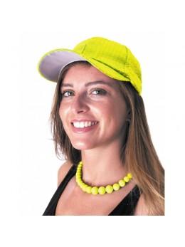 Casquette jaune fluo