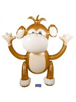 Déco singe gonflable XXL 120cm