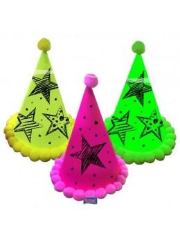 3 Chapeaux cotillons Fluo