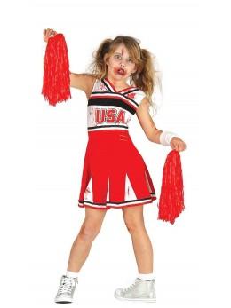 Déguisement Pompom girl zombie enfant