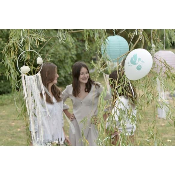 8 ballons baby shower vert