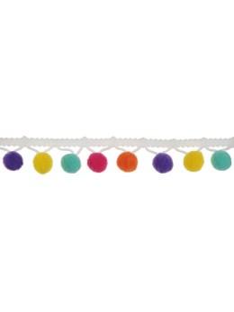 Guirlande pompon multicolore