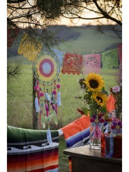 Attrape rêve Mexique multicolore