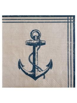20 serviettes bord de mer