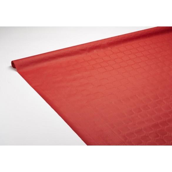Nappe damassée 25m rouge