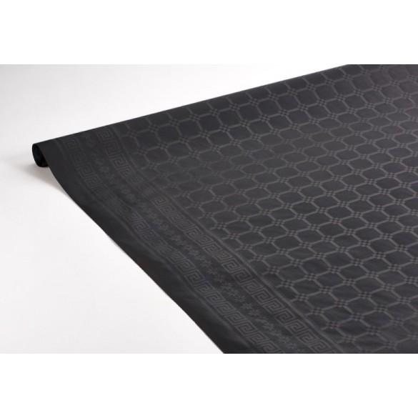 Nappe damassée 25m noire