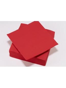 serviettes papier rouge