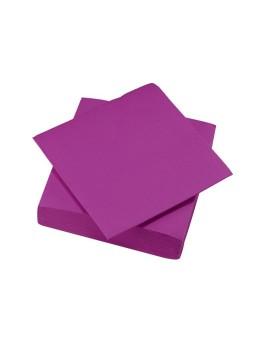 serviettes papier violet