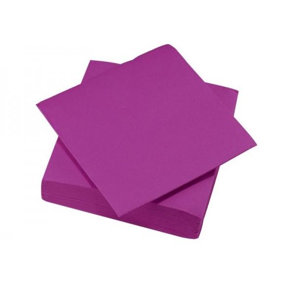 50 Serviettes tendance violet