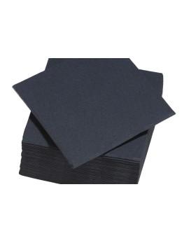 serviettes papier noir