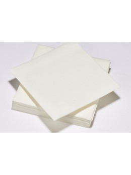 25 Serviettes intissé blanc