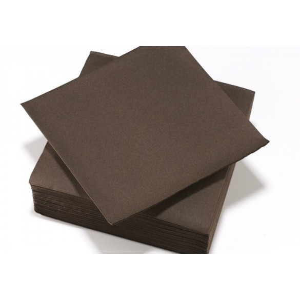 25 Serviettes intissé chocolat