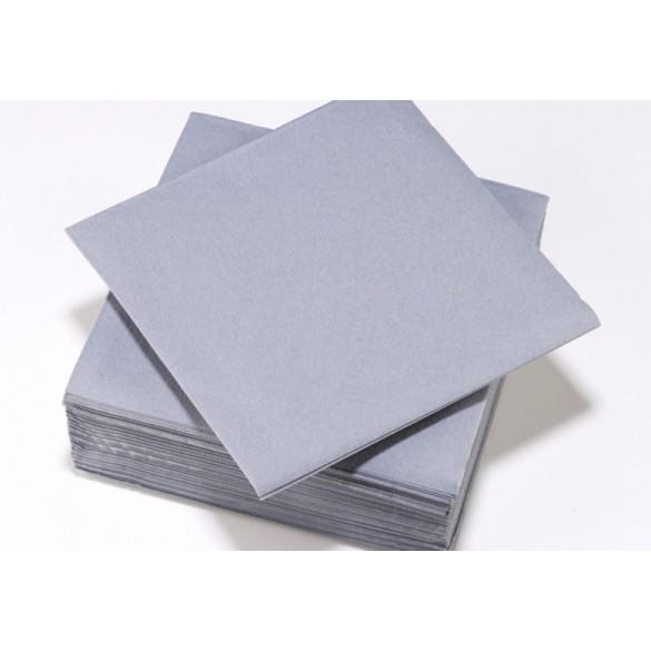 25 Serviettes intissé gris