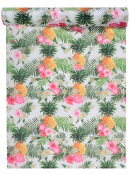Chemin de table multicolore tropical