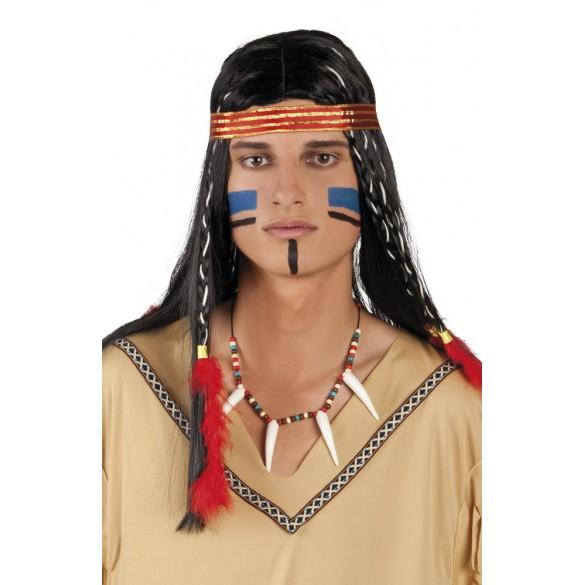 collier indien avec dents