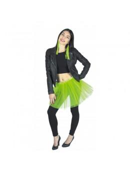 Tutu pour déguisement en tulle vert fluo
