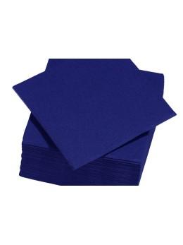 serviettes papier bleu roi