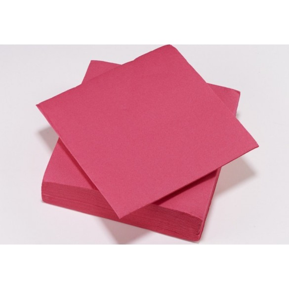 50 serviettes cocktail fuchsia