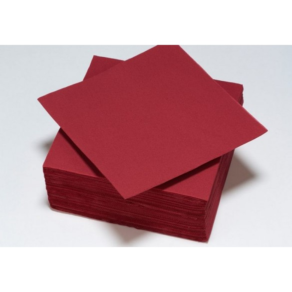 serviettes papier bordeaux