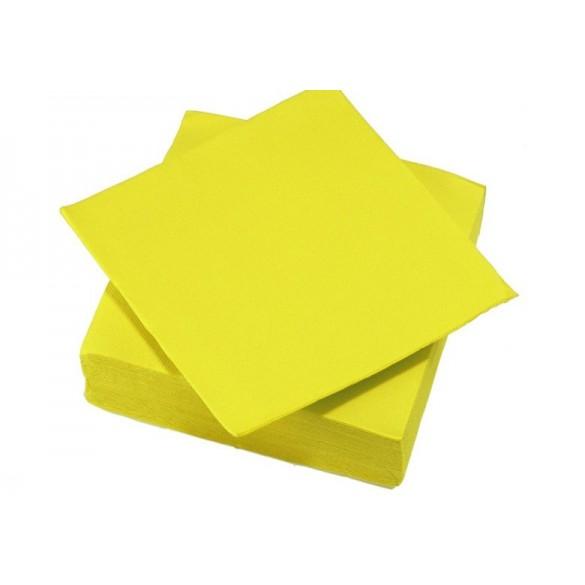 25 Serviettes intissé jaune