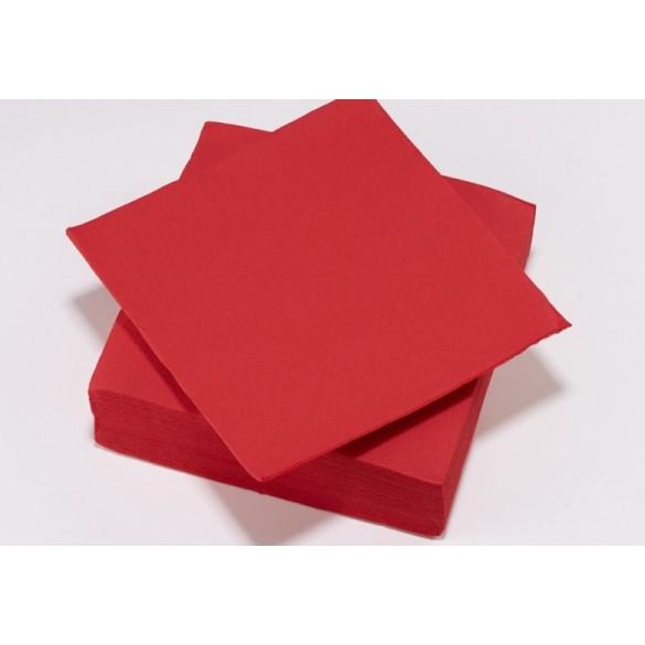 25 Serviettes intissé rouge