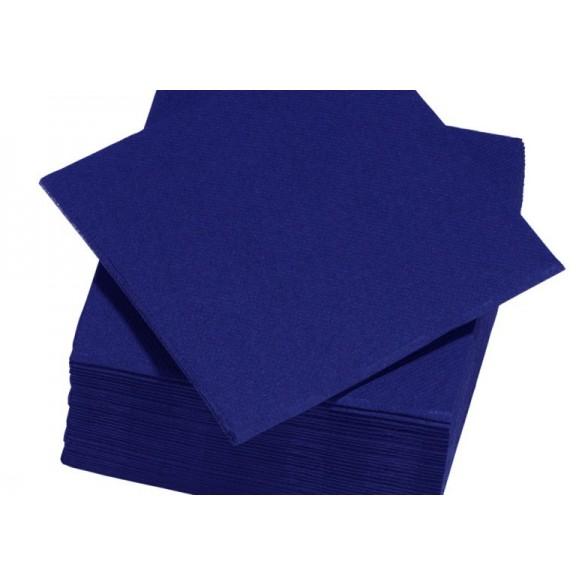 25 Serviettes intissé bleu