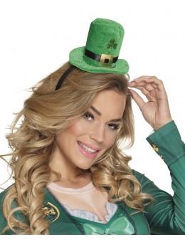 Serre tête mini chapeau Saint Patrick