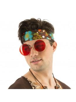 Lunettes Big hippie rouge