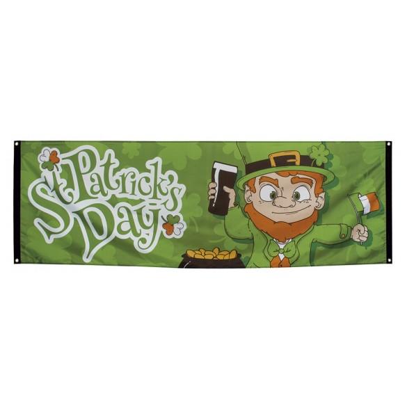 Bannière tissu Saint Patrick 2m20