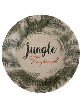 10 Assiettes jungle tropical