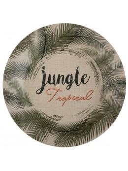 10 Assiettes jungle tropical