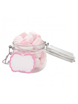 6 étiquettes candy bar rose