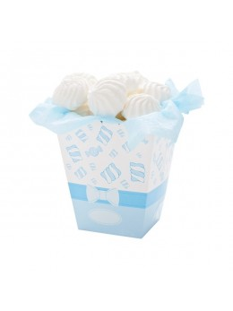 4 boîtes à pop-corn bleu