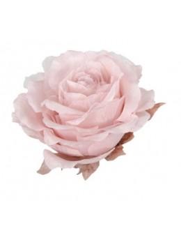 Décoration fleur géante organza rose pastel 34cm