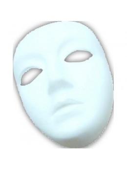 Masque blanc à décorer femme