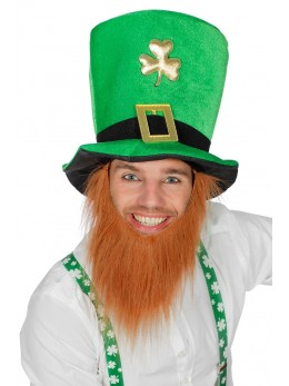 Chapeau Saint Patrick leprechaun barbe