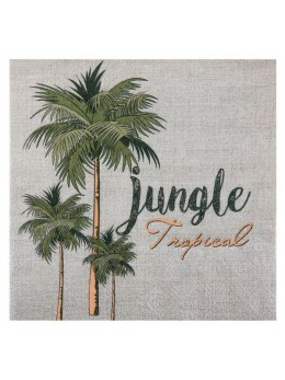 20 Serviettes jungle tropical