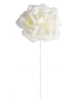 Set 2 roses ivoire sur tige 10 cm