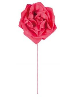 Set 2 roses rouge sur tige 10 cm