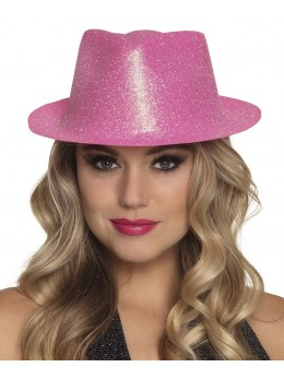 Borsalino paillettes rose