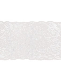Ruban de table dentelle roses blanches