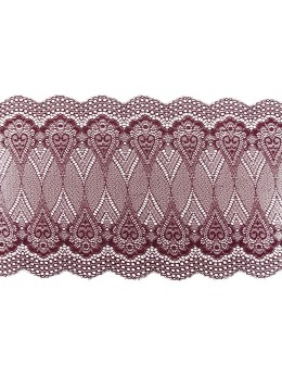 Ruban de table dentelle bordeaux