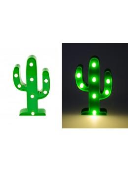 Déco cactus 8 leds